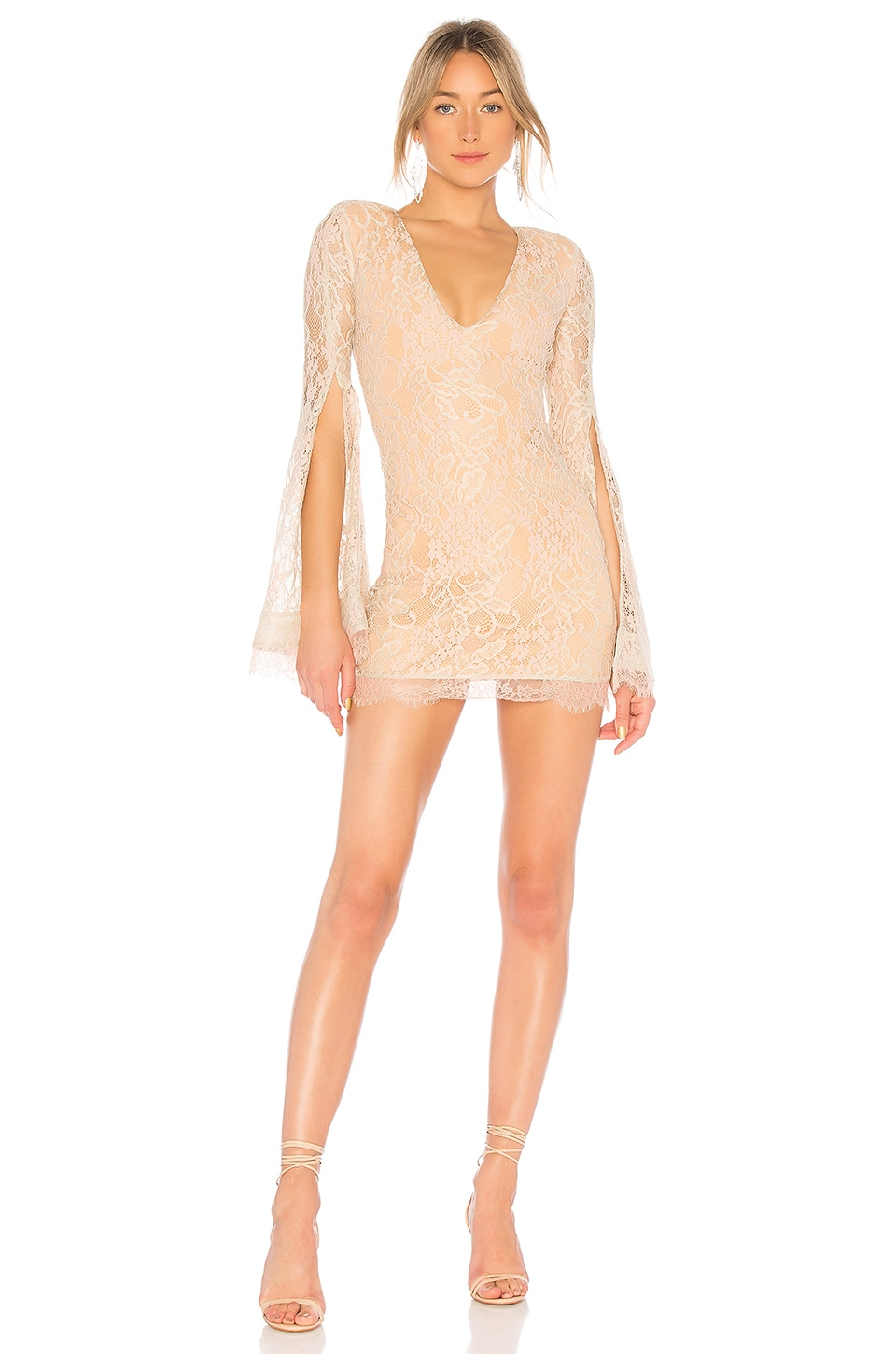Michael Costello x REVOLVE Moseley Dress in Nude Bloom