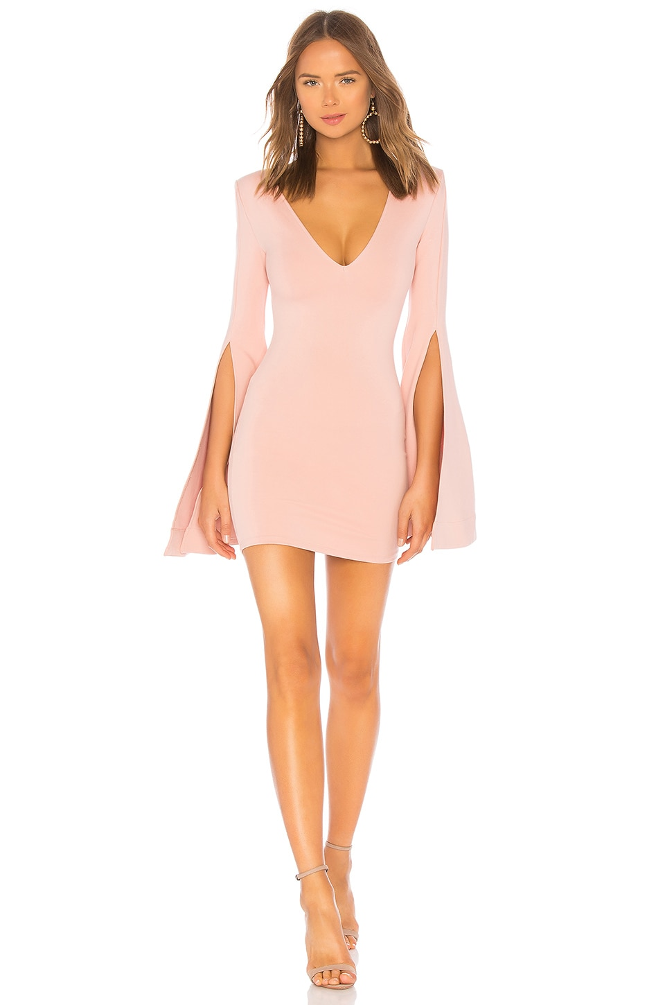Michael Costello x REVOLVE Moseley Mini Dress in Blush
