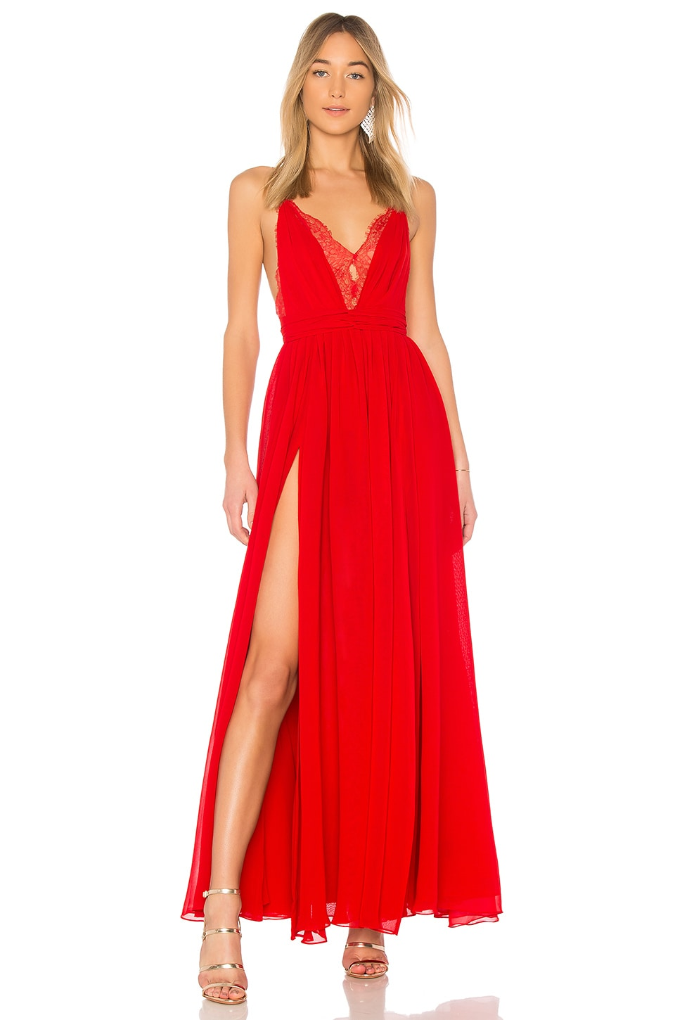 Michael Costello x REVOLVE Justin Gown in Red | REVOLVE