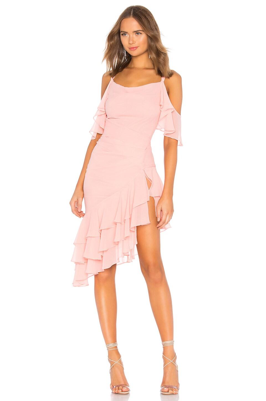 Michael Costello x REVOLVE Amaia Dress in Peach