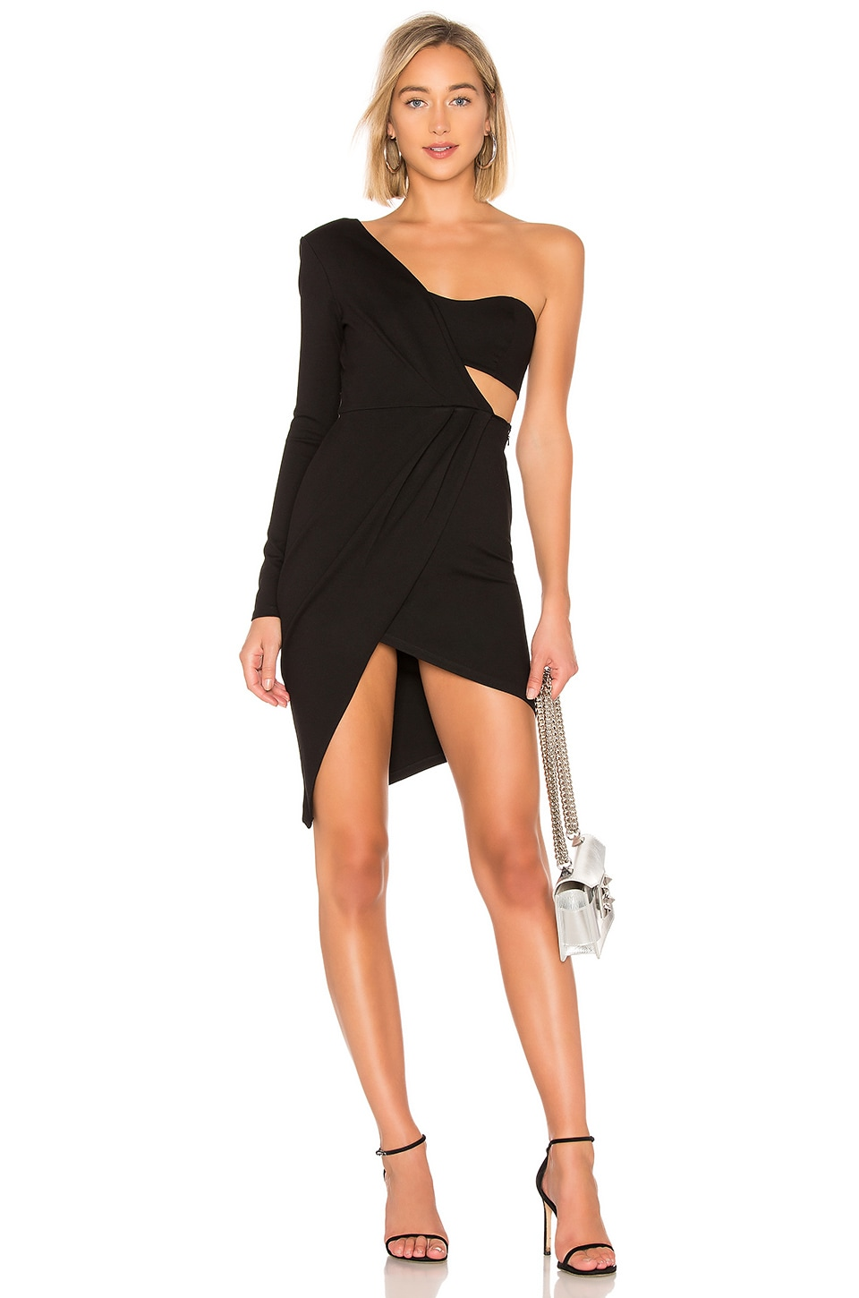 Michael Costello x REVOLVE Sage Midi Dress in Black