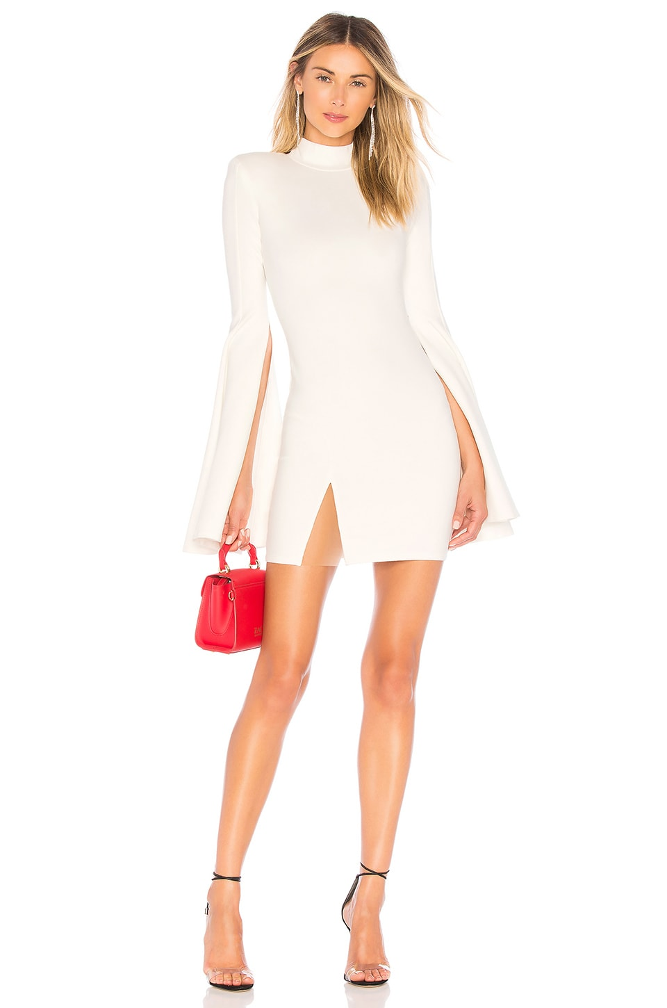 Michael Costello x REVOLVE Mr. Gibson Mini Dress in Ivory