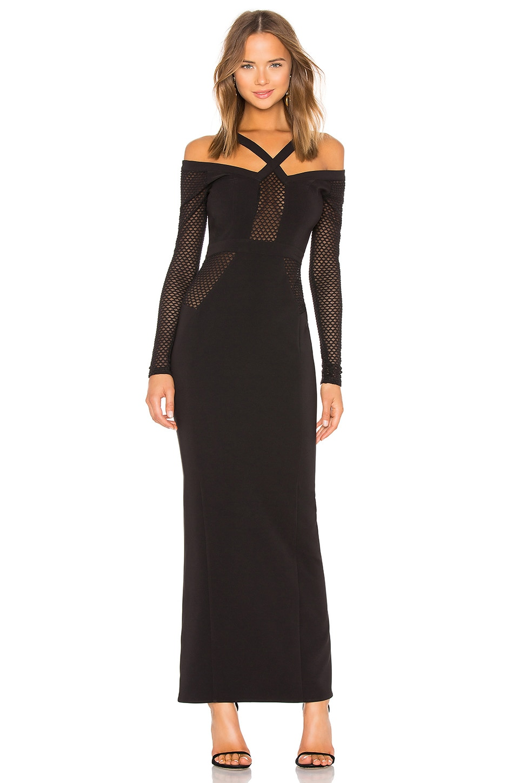 Michael Costello x REVOLVE Elisha Maxi Dress in Black