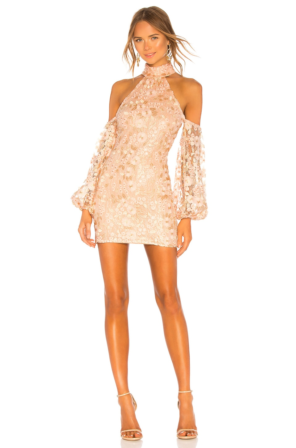 Michael Costello x REVOLVE Sole Mini Dress in Light Pink Floral