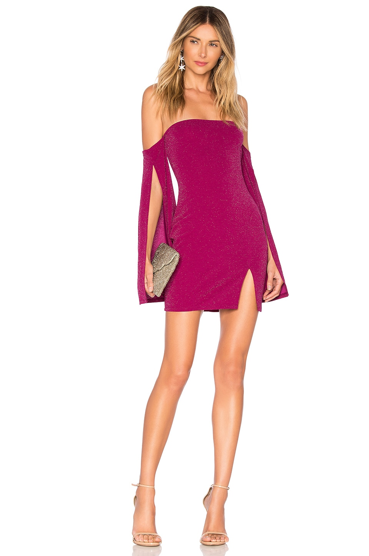 Michael Costello x REVOLVE Sandrine Mini Dress in Magenta