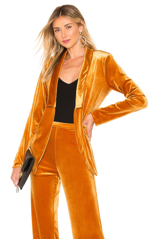 Michael Costello x REVOLVE Piper Jacket in Mustard
