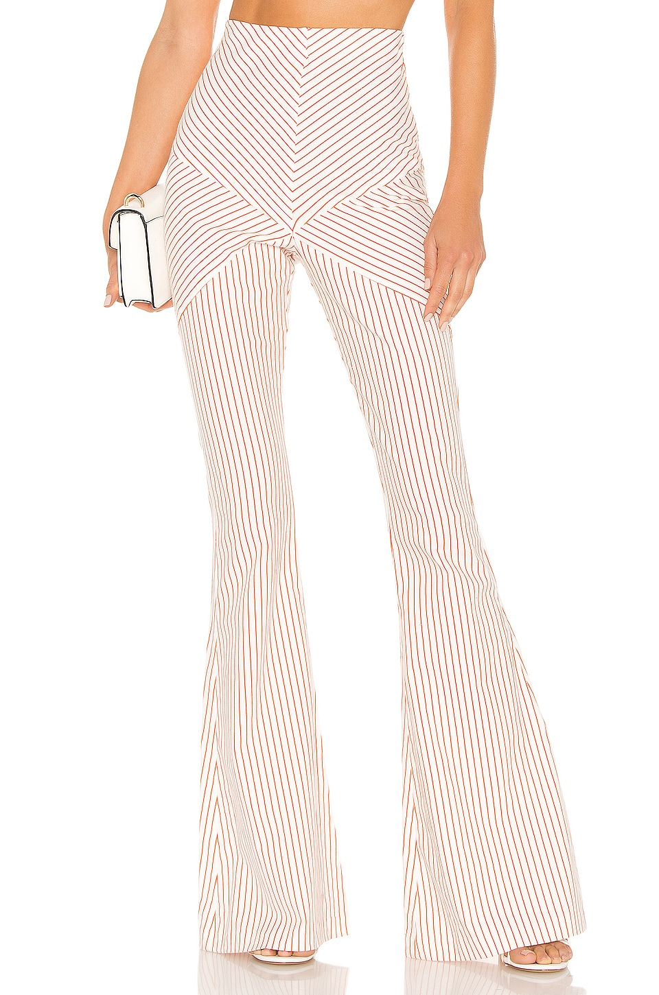 Michael Costello x REVOLVE Cassandra Pant in Orange Stripe