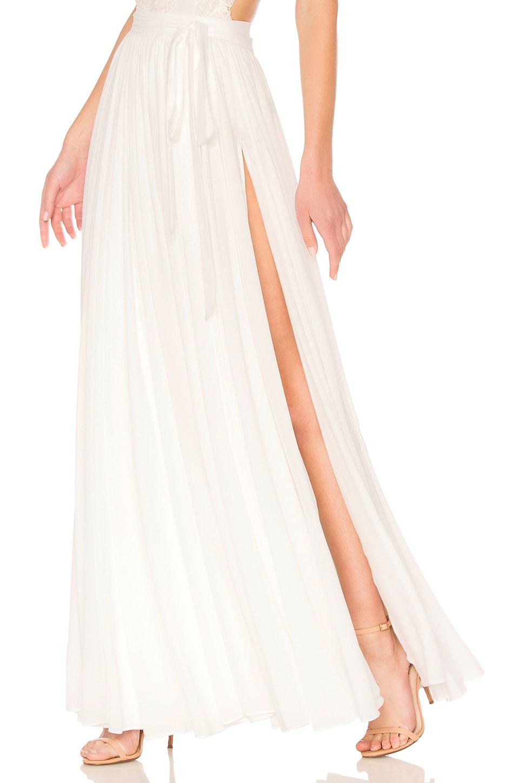 Michael Costello x REVOLVE Athena Skirt in Ivory