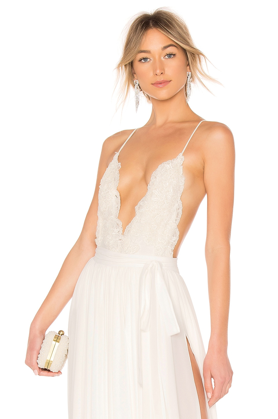 Michael Costello x REVOLVE Athena Bodysuit in Ivory