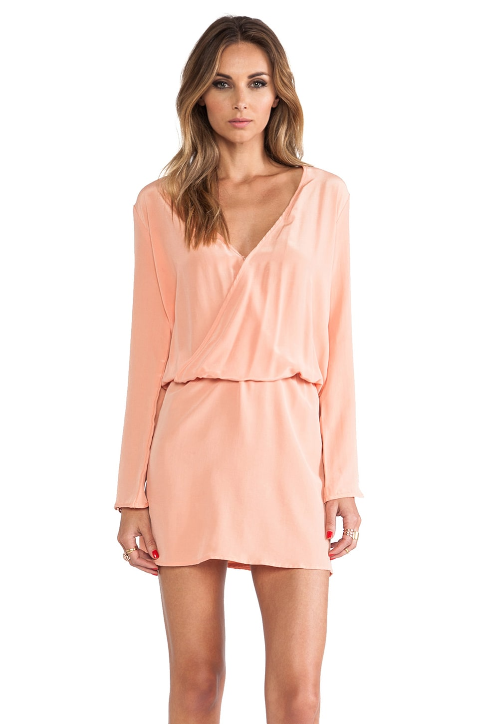 MERRITT CHARLES Santa Domingo Tulip Sleeve Dress in Melon