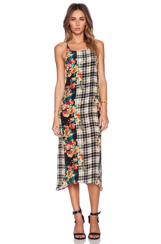 MERRITT CHARLES Emmy Dress in Plaid & Floral