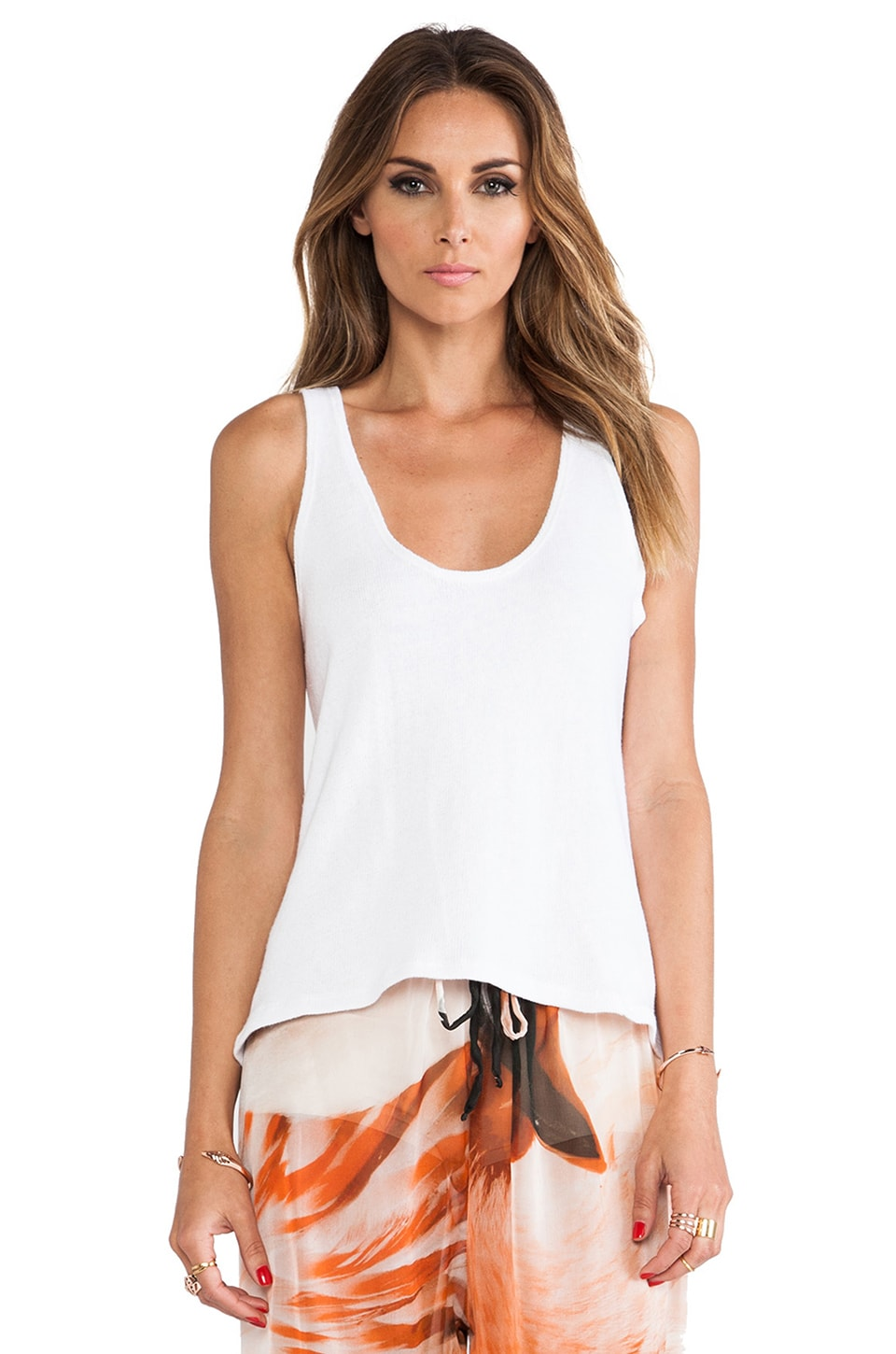 MERRITT CHARLES Savanna Top in Optic White