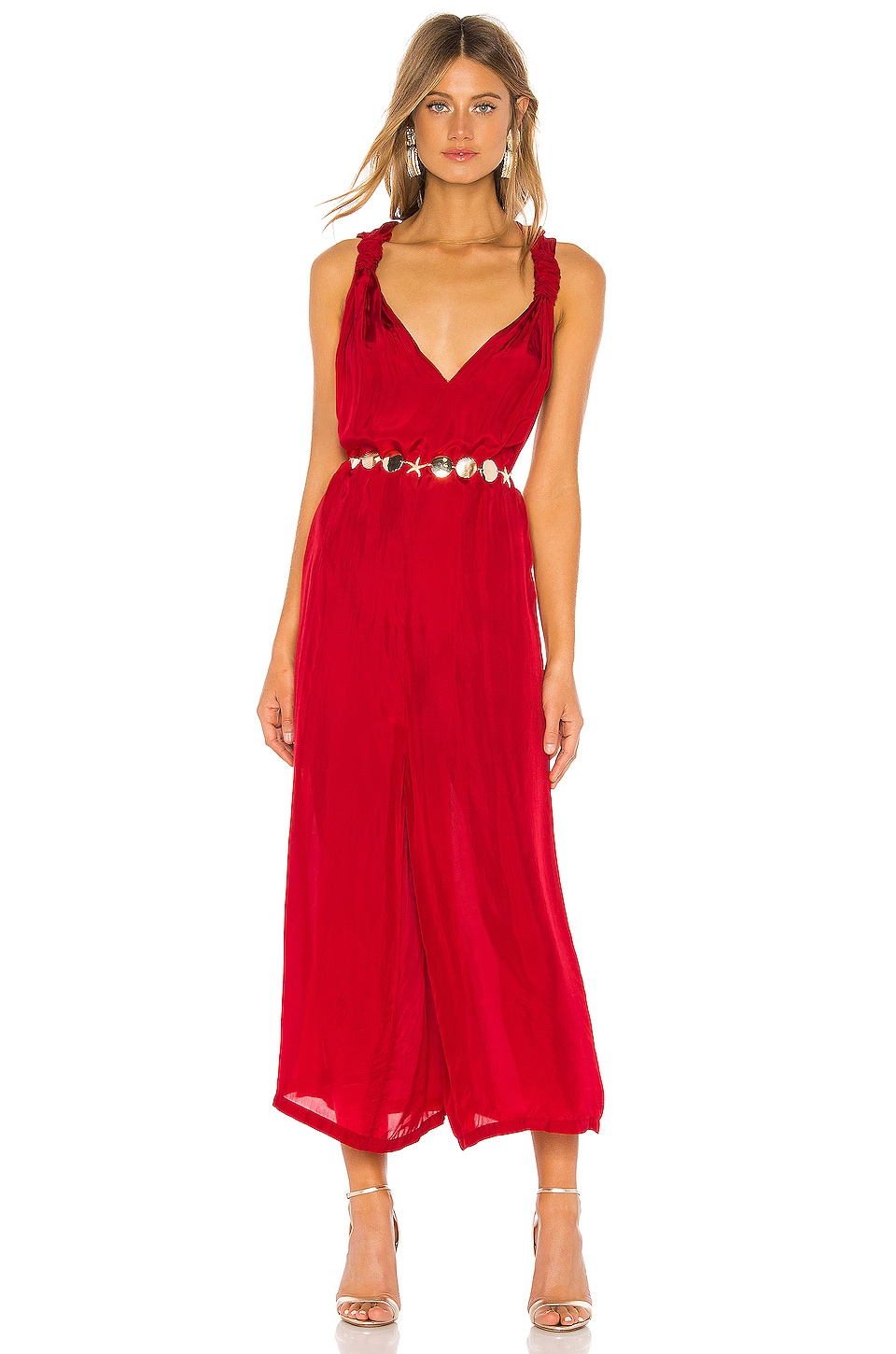 Mes Demoiselles Hayati Overall in Red