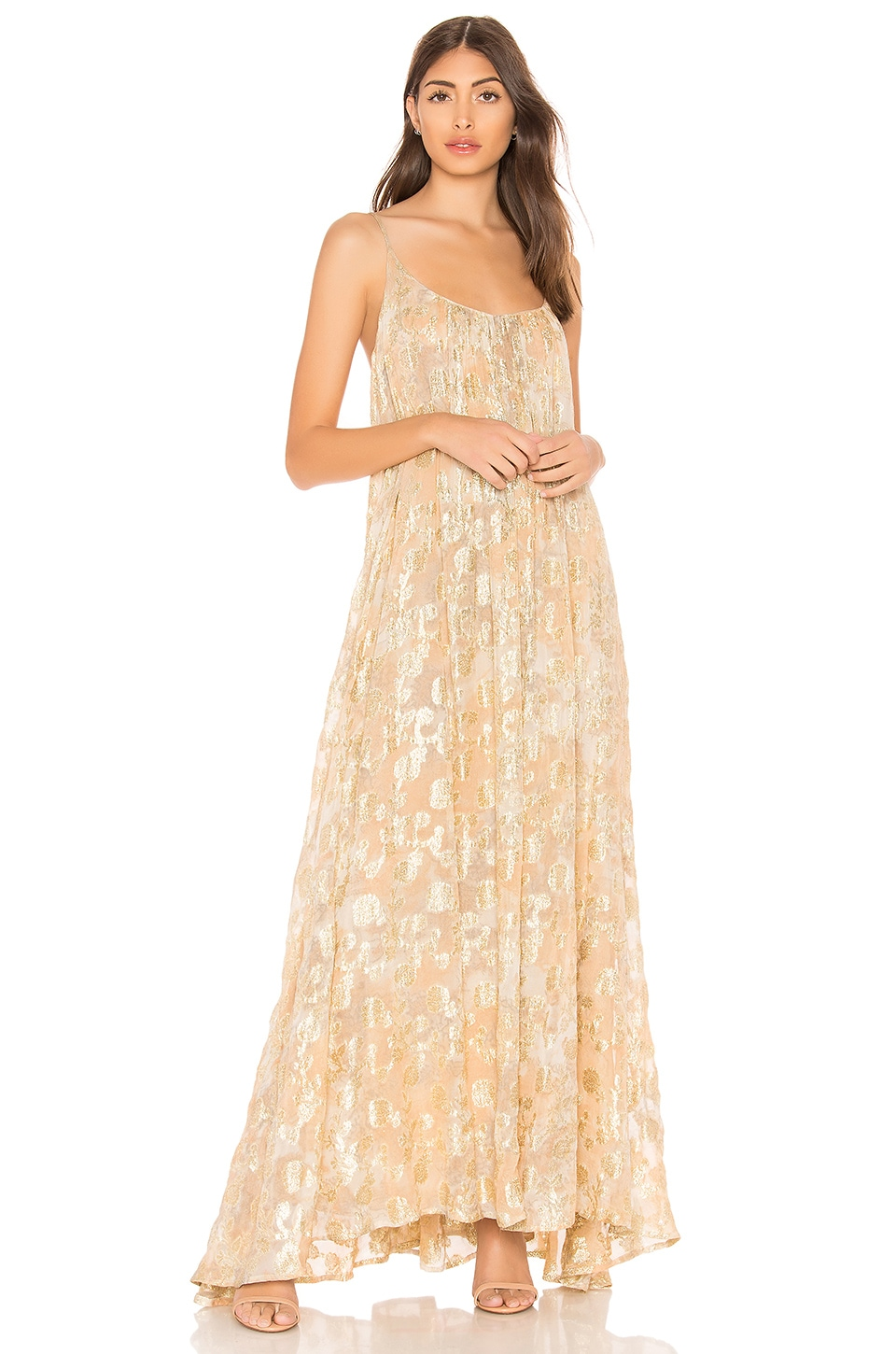 MES DEMOISELLES ASPASIE SLIP DRESS, METALLIC GOLD | ModeSens