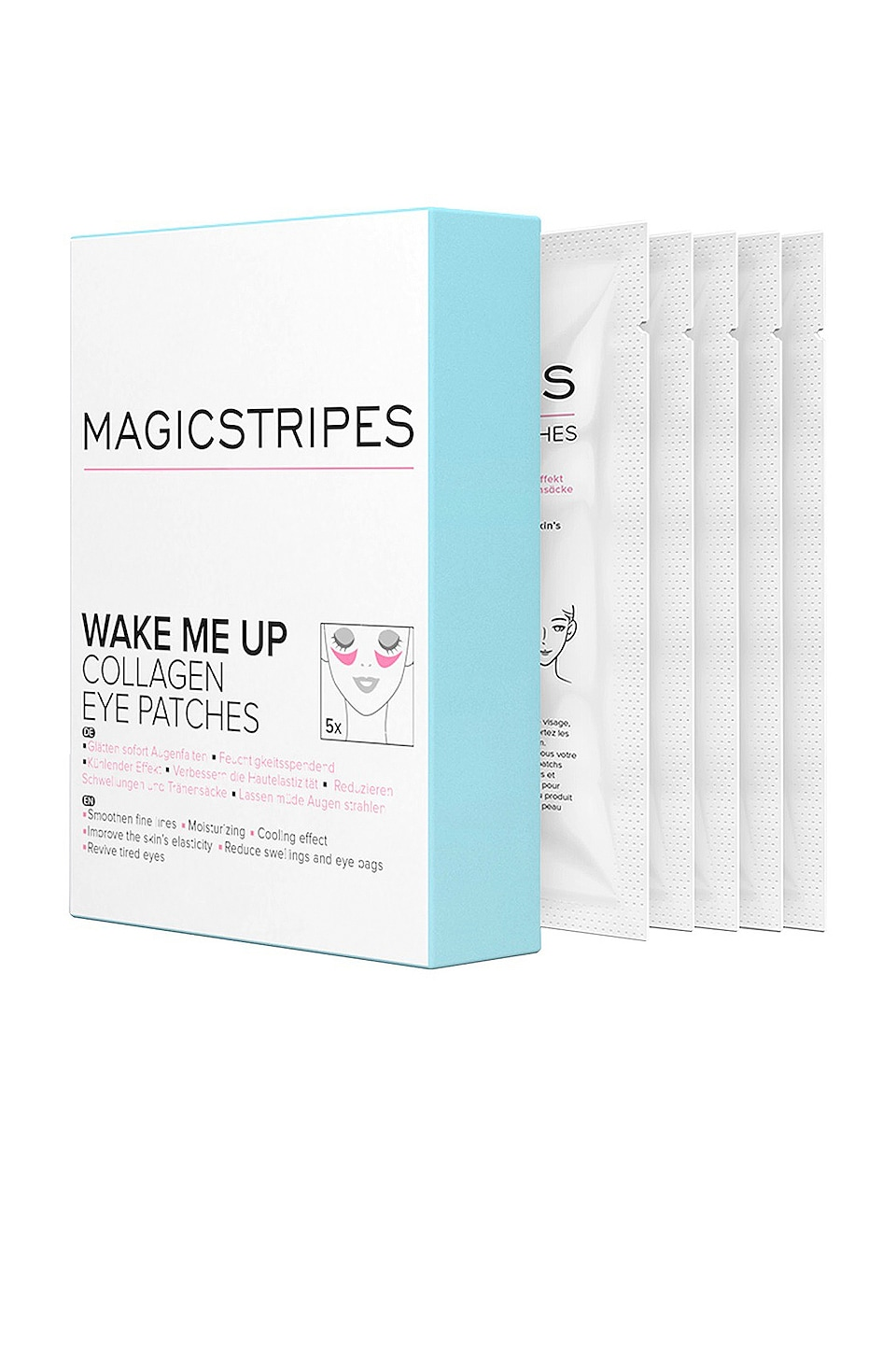 MAGICSTRIPES ANTIFAZ WAKE ME UP COLLAGEN EYE PATCHES BOX