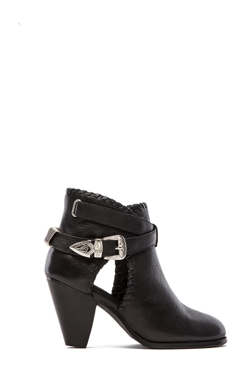 MADISON HARDING Olivia Buckle Boot in Black Faded