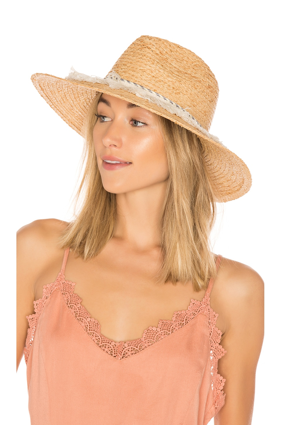 Michael Stars Ocean Grass Wide Brim Hat in Natural