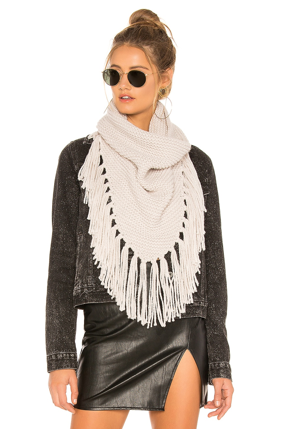 Michael Stars Eternal Fringes Scarf in Abalone