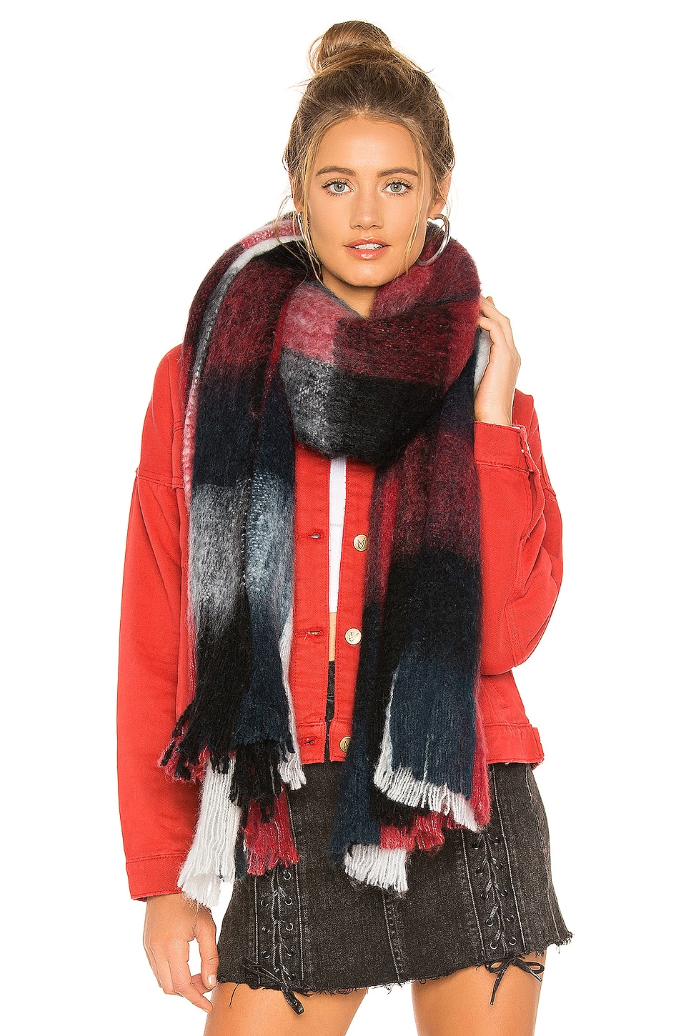 Michael Stars Winter Warmer Wrap in Red