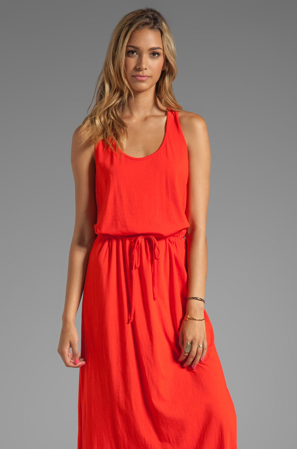 Michael Stars Crochet Racerback Maxi Dress in Samba