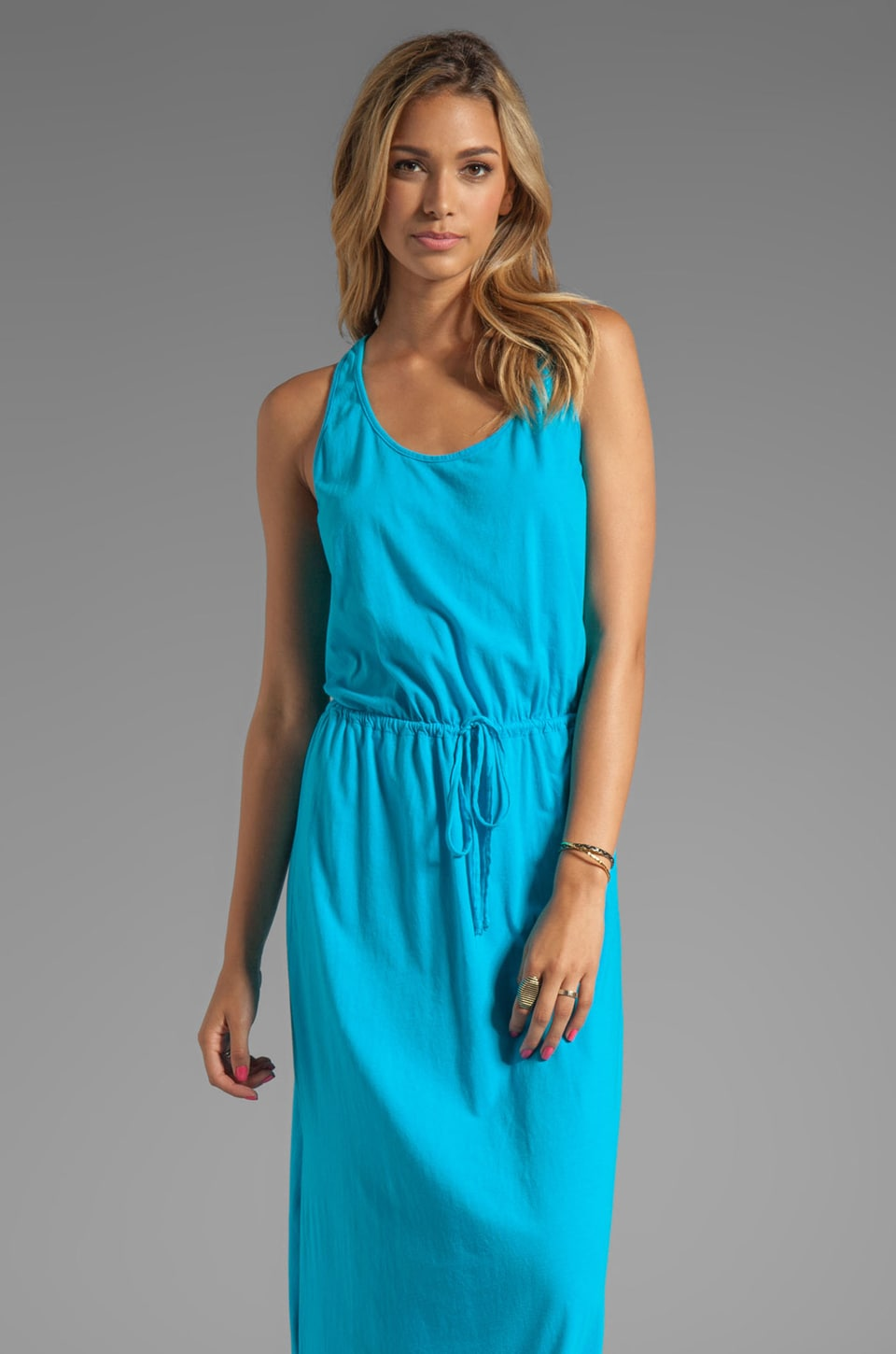 Michael Stars Crochet Racerback Maxi Dress in Atlantic