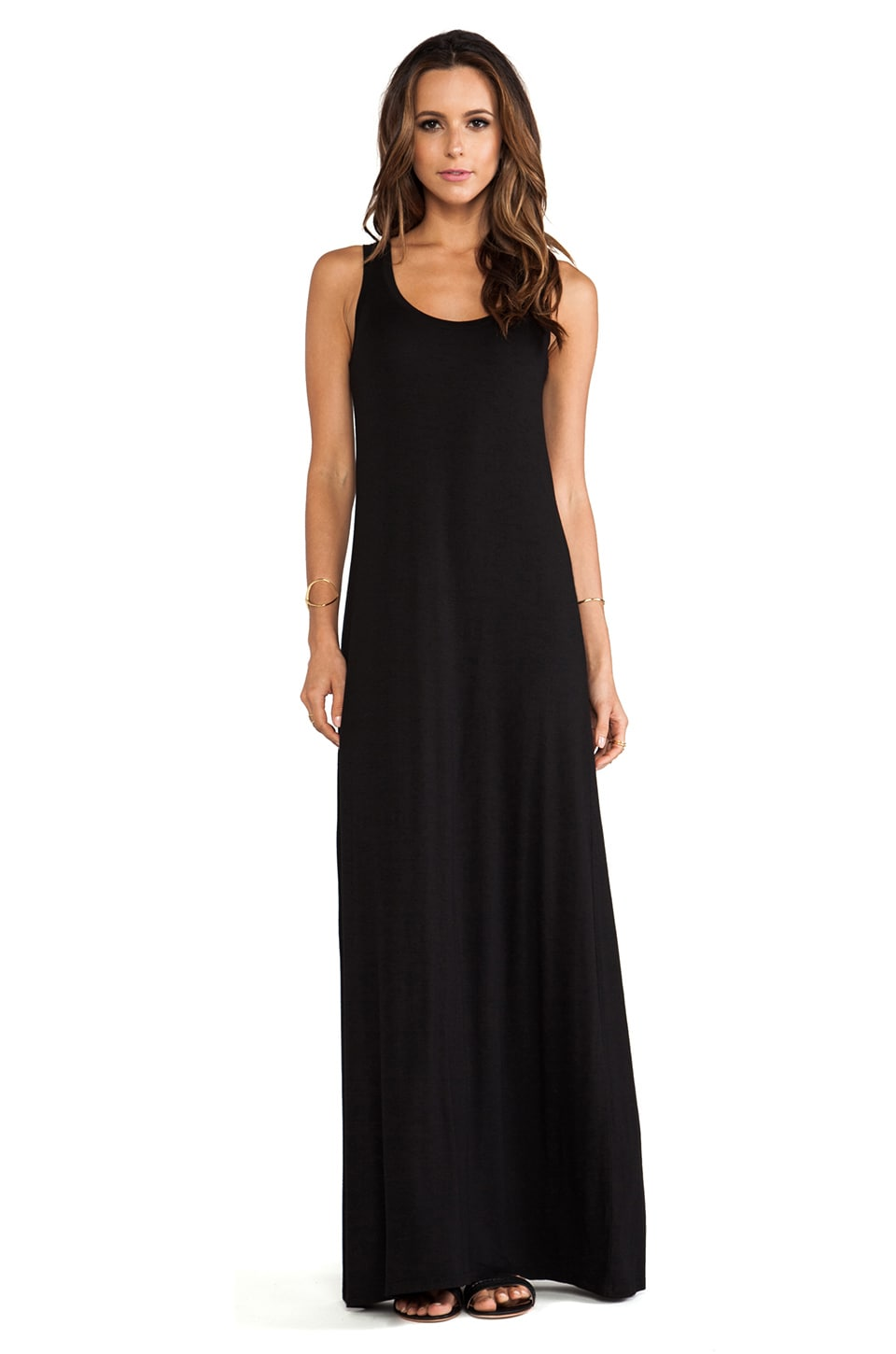 Michael Stars Sonia Sleeveless Tank Maxi Dress in Black