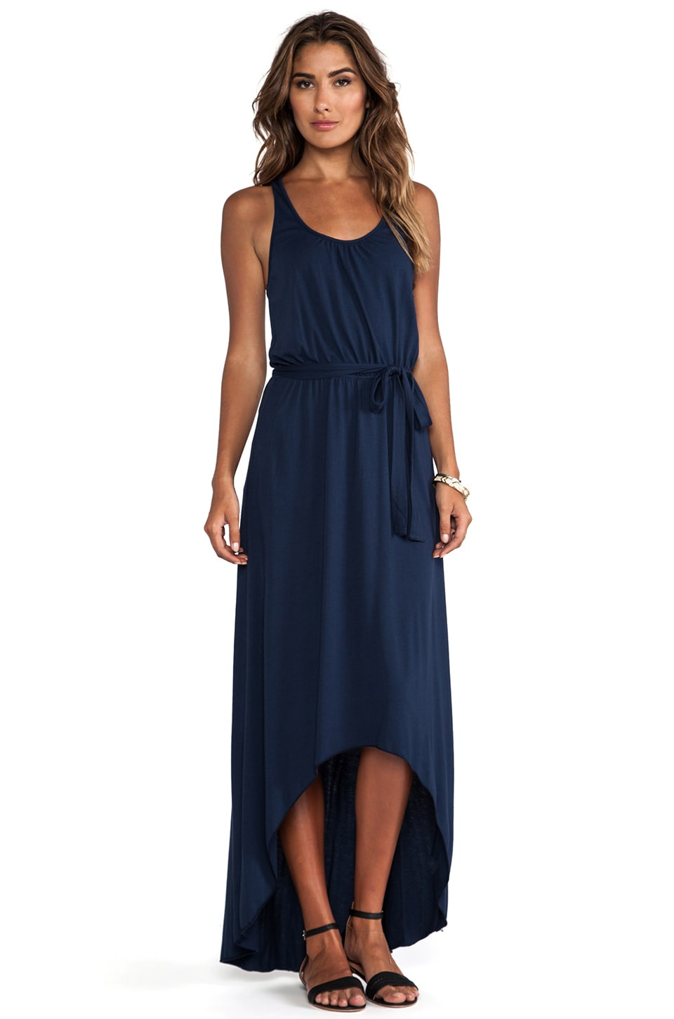 Michael Stars Seamless Scoop Neck Racerback High Low Maxi in Ship