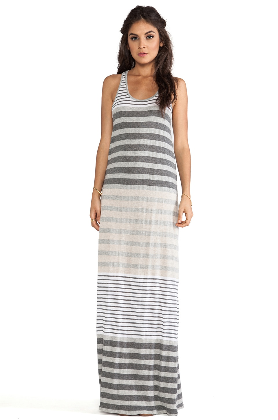 Michael Stars Sleeveless Racerback Maxi Dress in Heather Grey