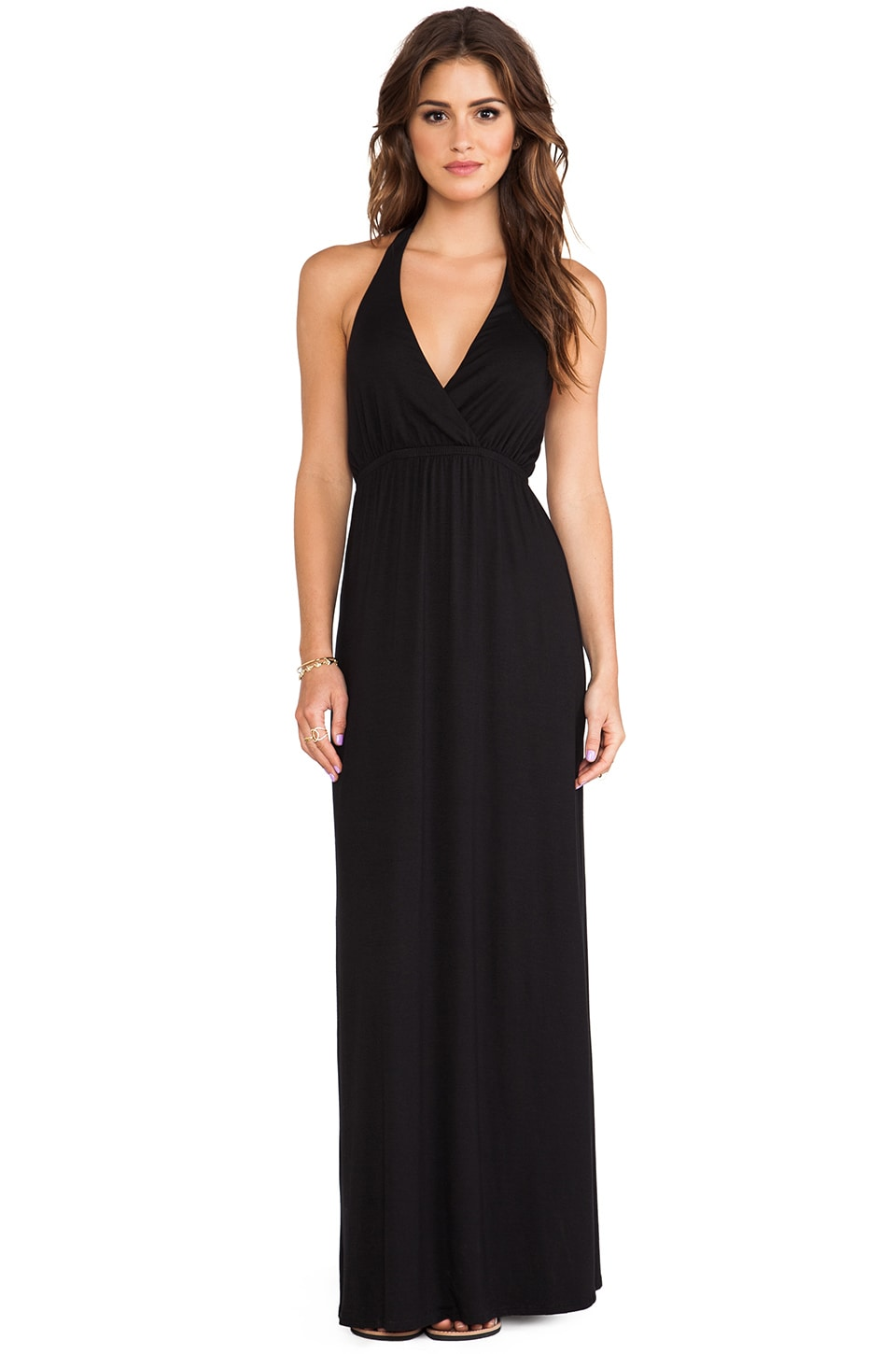 Michael Stars Alice Maxi Dress in Black