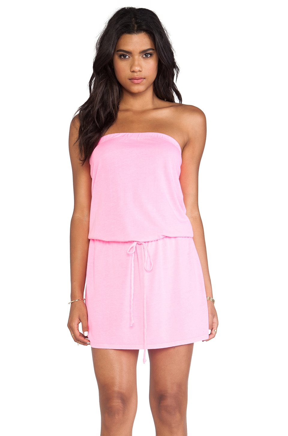 Michael Stars X REVOLVE Strapless Dress in Blinding Pink