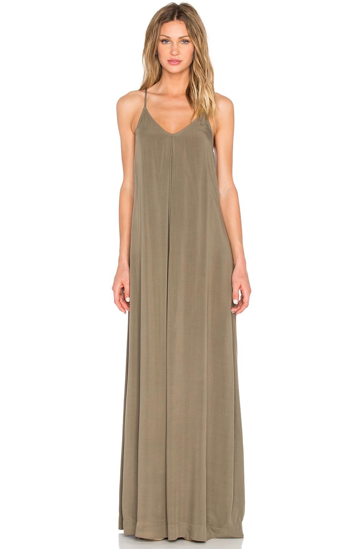 Michael Stars Maxi Slip Dress in Olive Moss