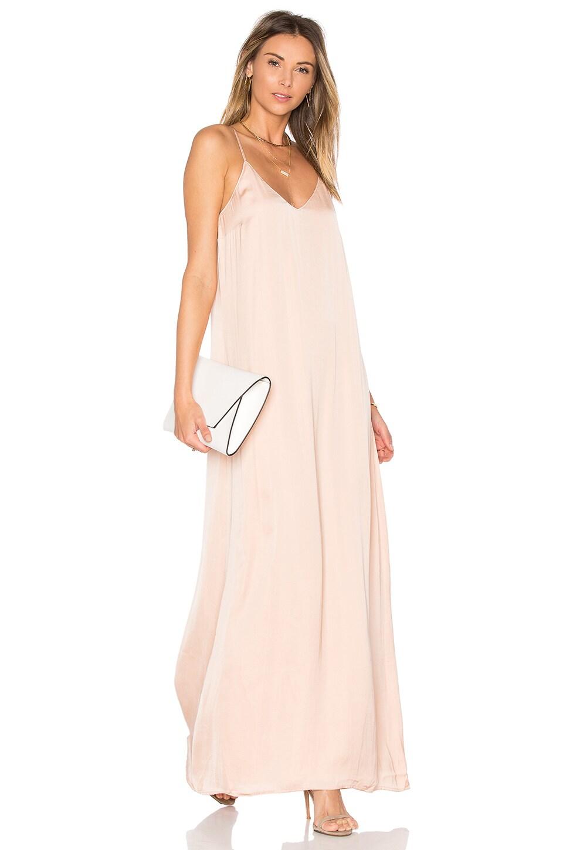Michael Stars Zoey Satin Slip Dress in Chantilly