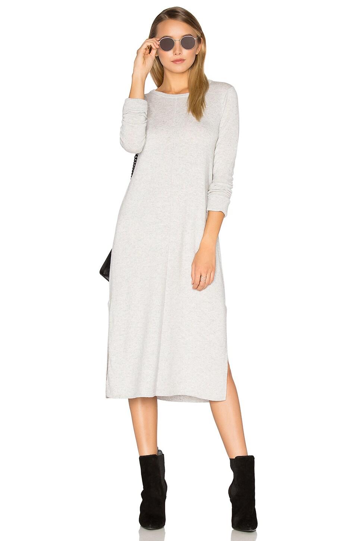 Cashmere Blend Slit Sweater Midi Dress by Michael Stars