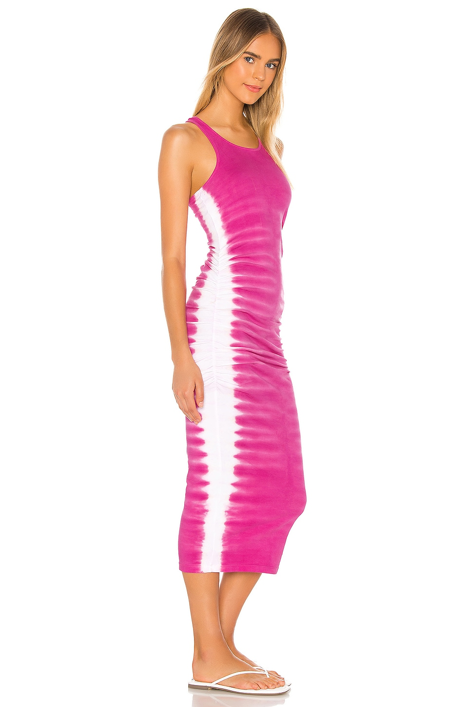 Flame Wash Midi Dress, view 2, click to view large image.