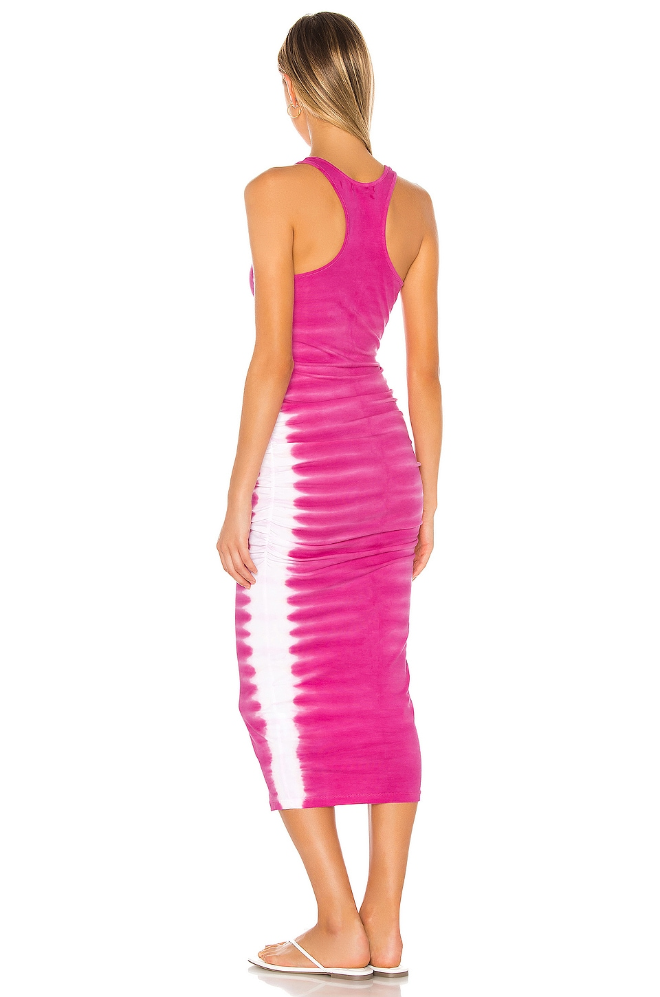 Flame Wash Midi Dress, view 3, click to view large image.