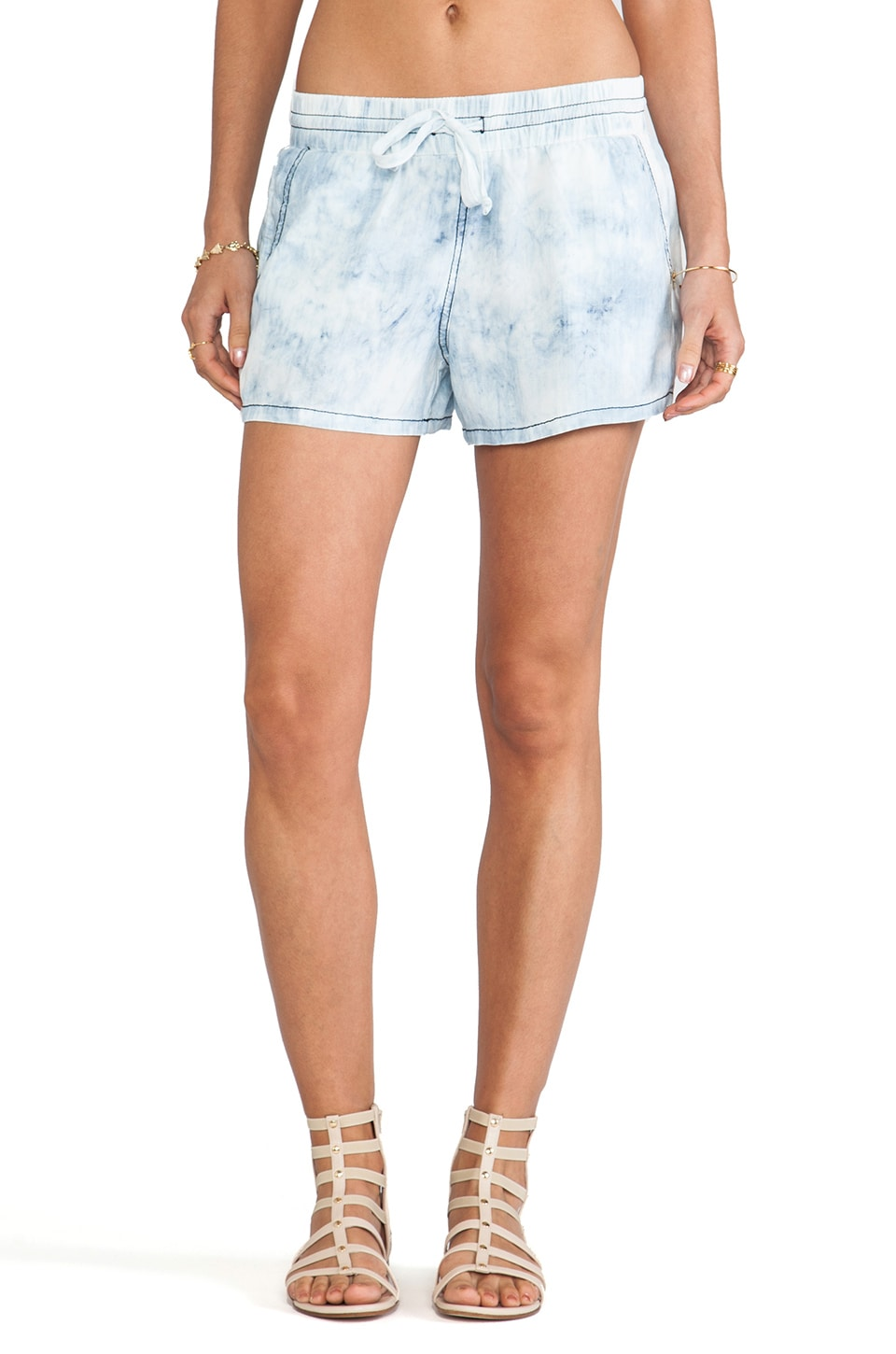 Michael Stars Drawstring Waist Shorts in Cloud Wash