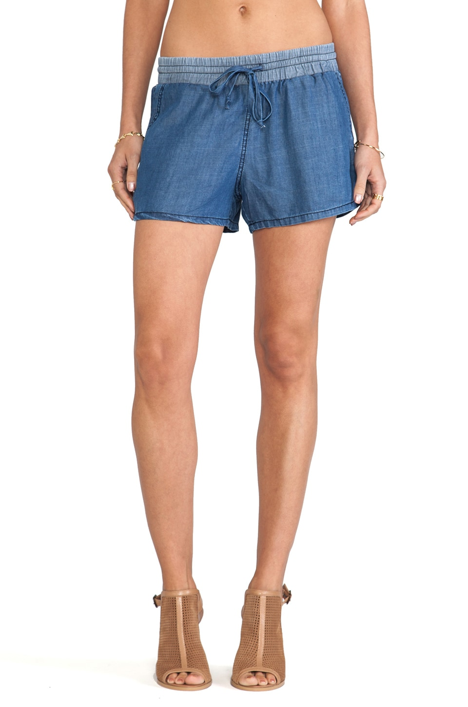 Michael Stars Drawstring Waist Shorts in Denim