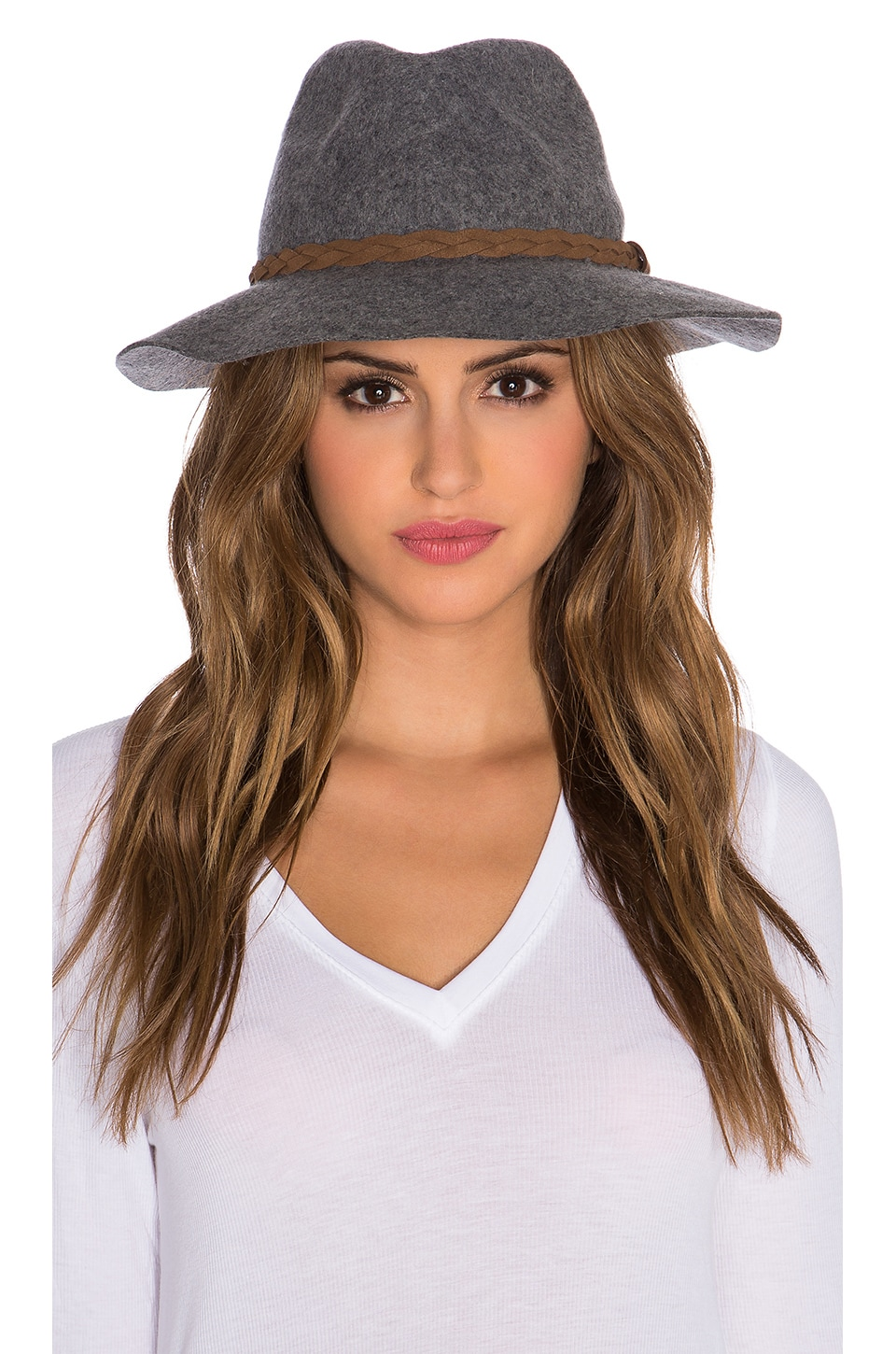 Michael Stars She's Twisted Fedora in Heather Crescent