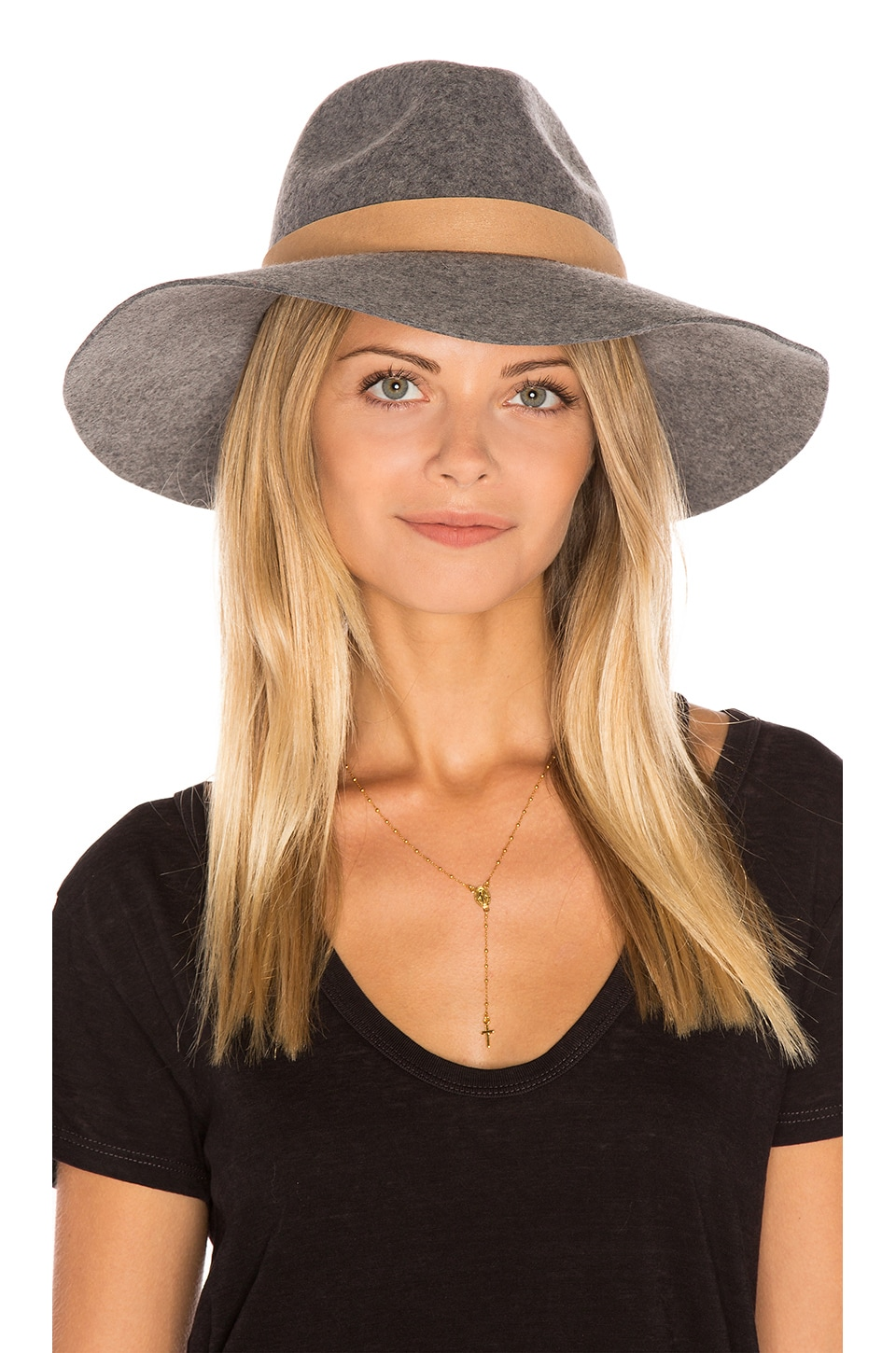 Michael Stars Midnight Ride Wide Brim Hat in Heather Galvanized