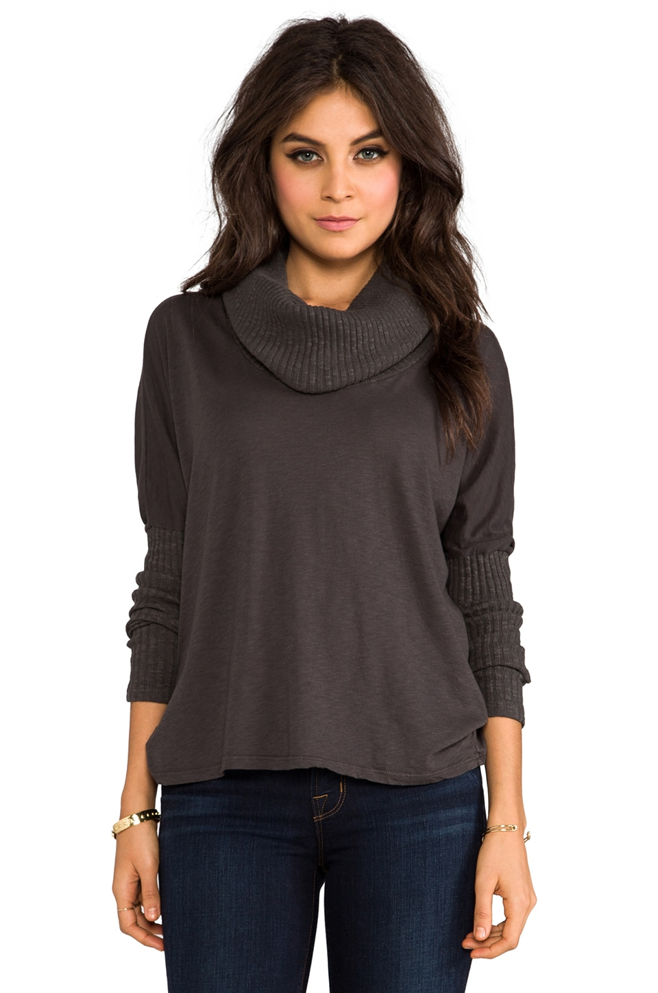 Michael Stars Cowl Neck Sweater in Oxide