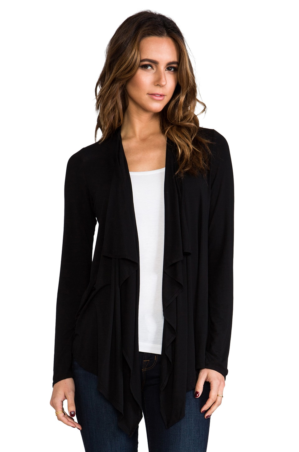 Michael Stars Cascade Cardigan in Black