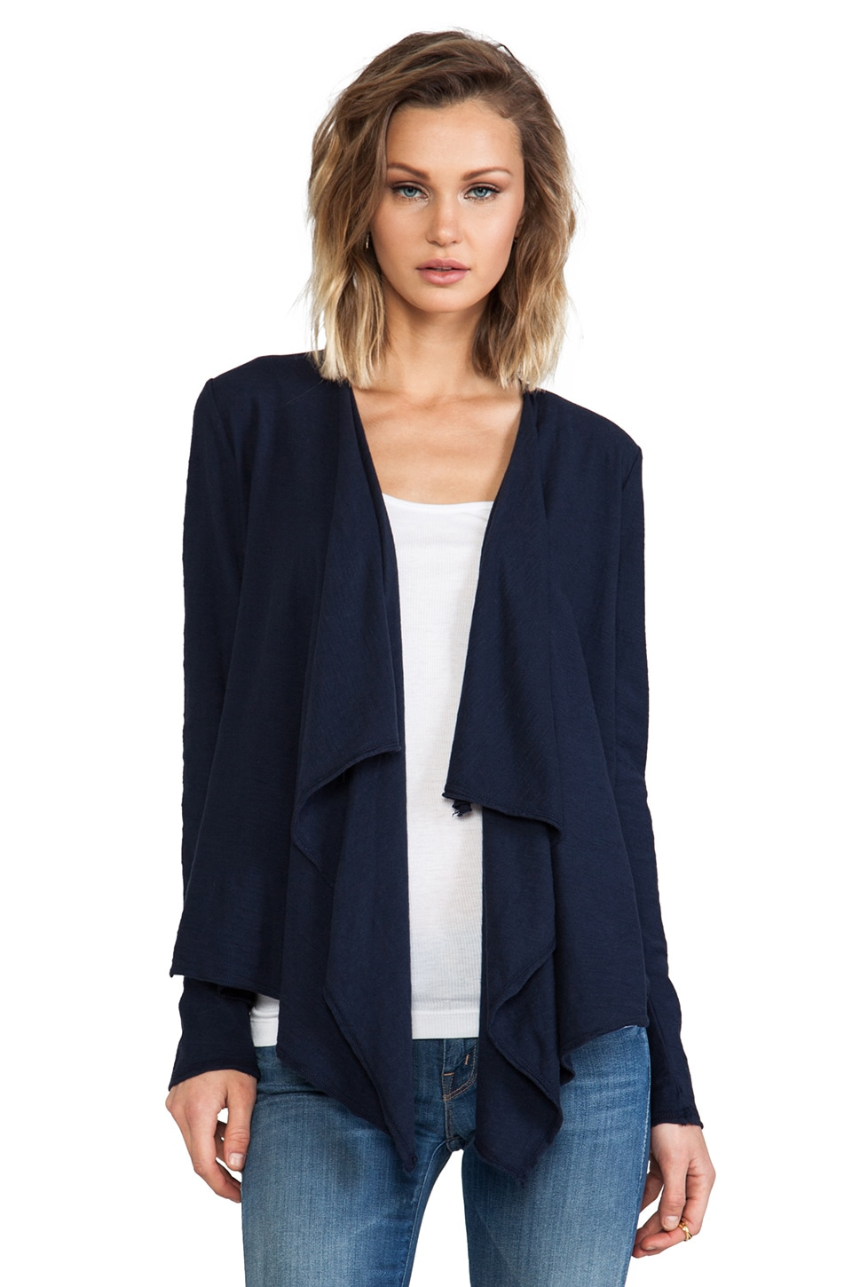 Michael Stars Long Sleeve Cascade Front Cardigan in Ship