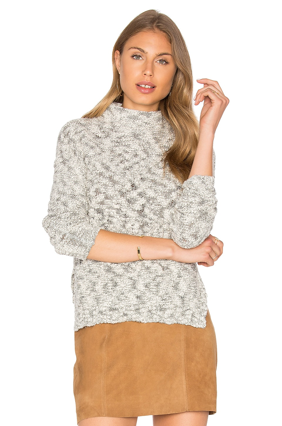 Cabled Turtleneck Pullover by Michael Stars