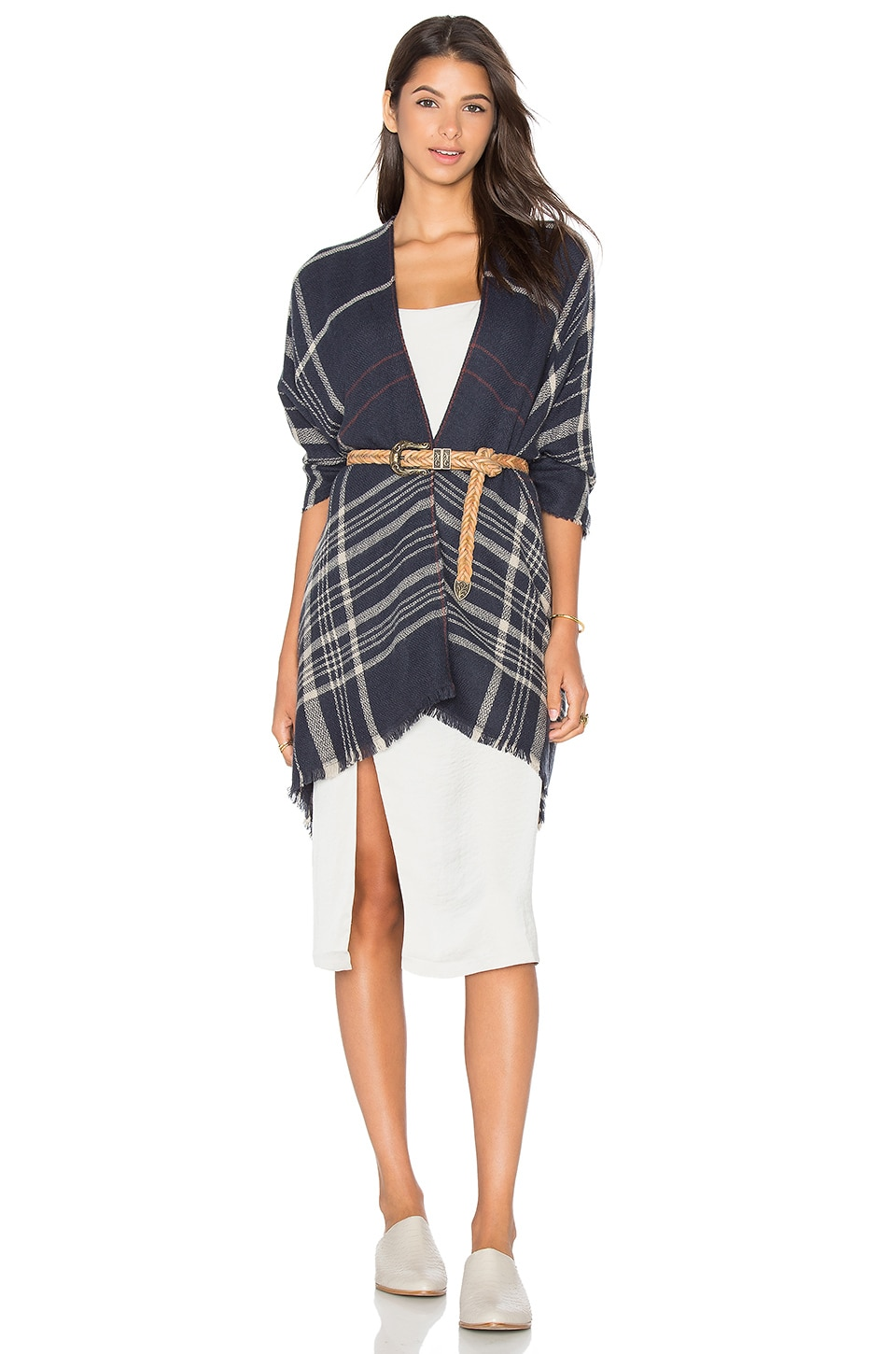 Plaid To See You Cape by Michael Stars