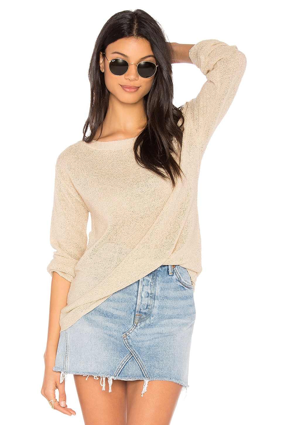 Michael Stars Textured Sweater in Sand