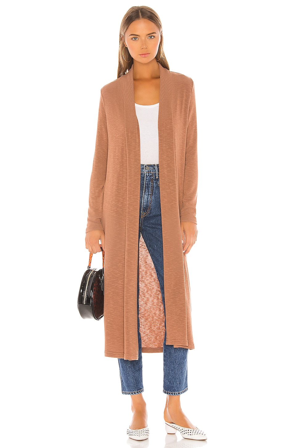 Michael Stars Candice Long Cardigan in Sequoia