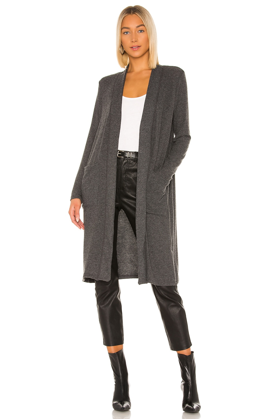 Michael Stars Pierre Long Cardigan in Charcoal