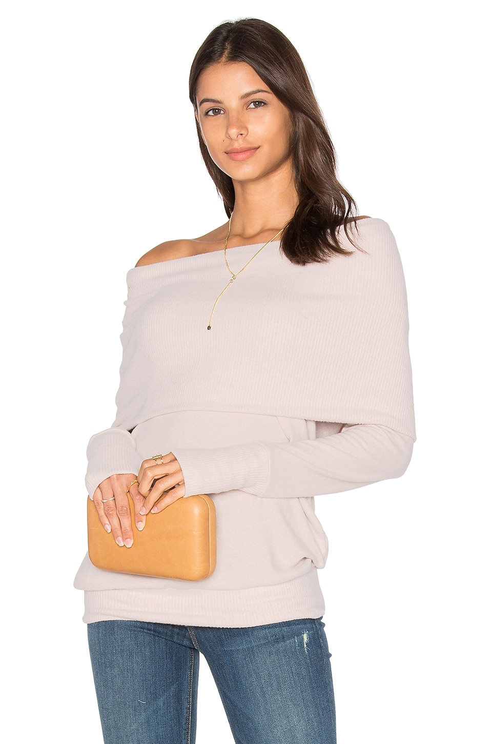 Long Sleeve Convertible Top by Michael Stars