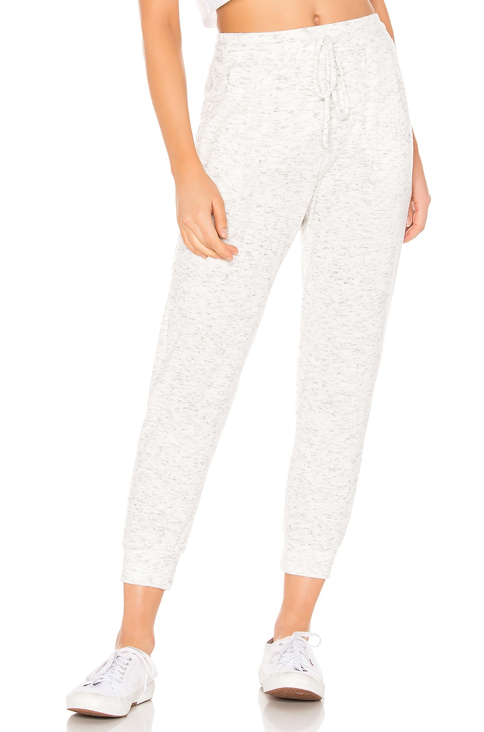 Michael Stars Jenna Cropped Jogger in Ash