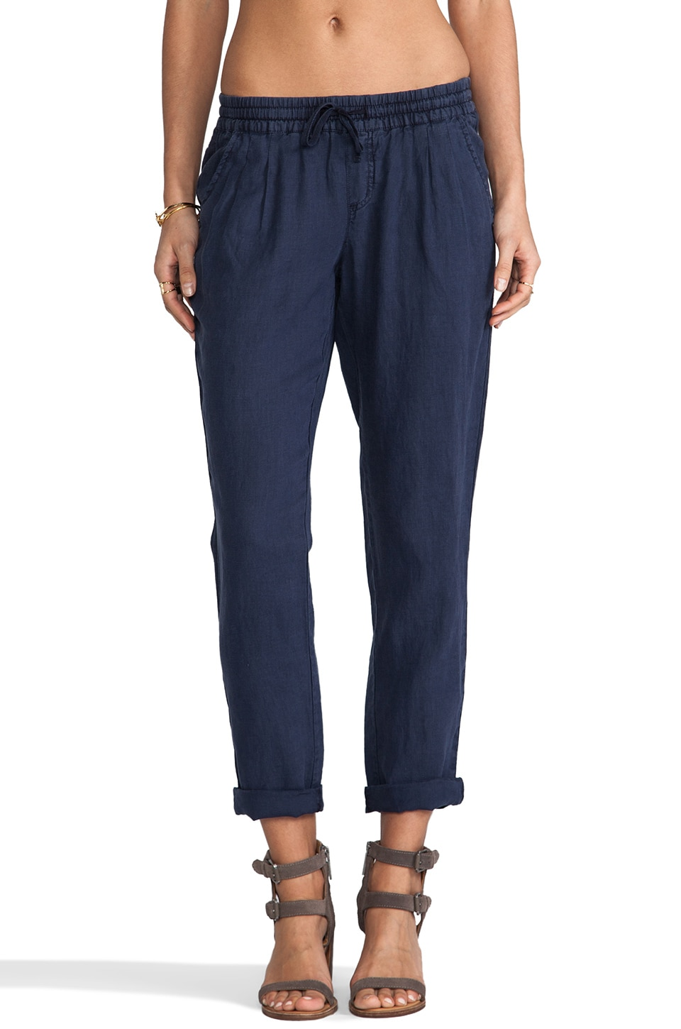 Michael Stars Pleated Cuffed Pant in Ship